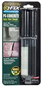 PC Products 70086 PC-Concrete Two-Part Epoxy Adhesive Paste for Anchoring and Crack Repair, 1.4 oz in Applicator Syringe, Gray