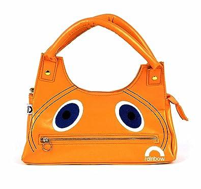 Amazon.com: Wg Retro Womens Pop Rainbow Zippy Face Handbag ...