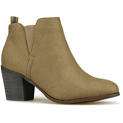 Premier Standard - Women's Elastic Side Panel Ankle Bootie - Comfortable Closed Toe Shoe - Low Heel Walking Boot | Ankle & Bootie