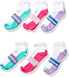 Fruit of the Loom Girls' Active Lightweight Ankle Socks 6 Pair