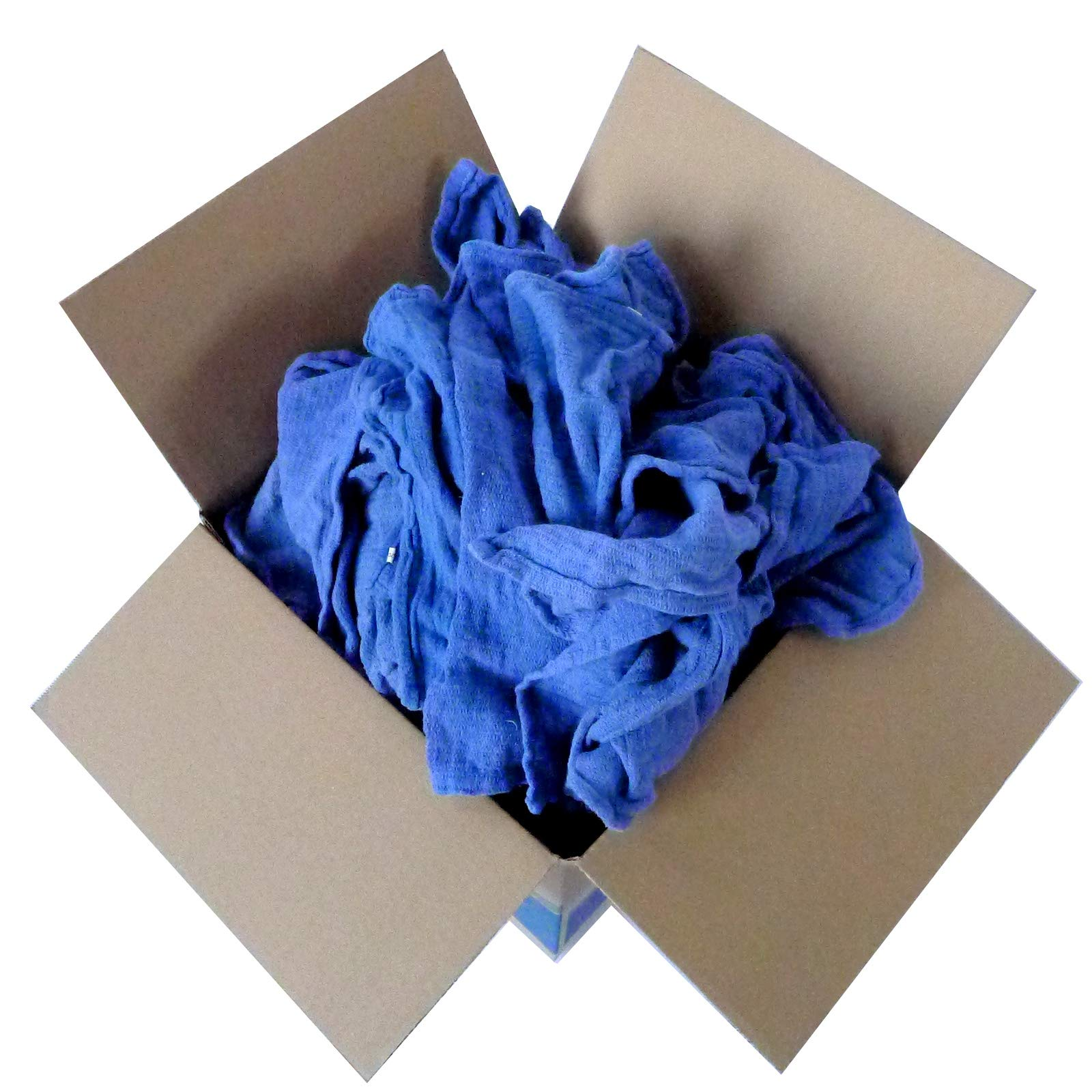 Recycled Blue Surgical Towel Rags - 10 Pound Box - A Perfect Non-Streaking No Lint Towel by A&A Wiping Cloth (Image #5)