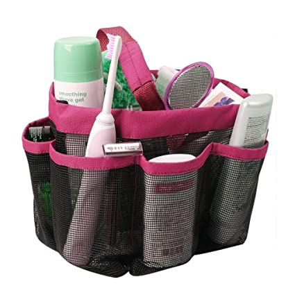 Amazon.com: SINNAYEO - Mesh Shower Caddy Hanging Organizer Travel ...