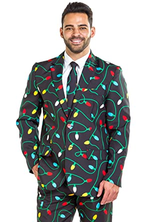 5592768f90 Tangle Wrangler Christmas Suit - Ugly Christmas Sweater Party Suit  36J 31P  Black