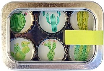 Kate Grenier Designs m6:cac Cactus Bottle Cap Magnets