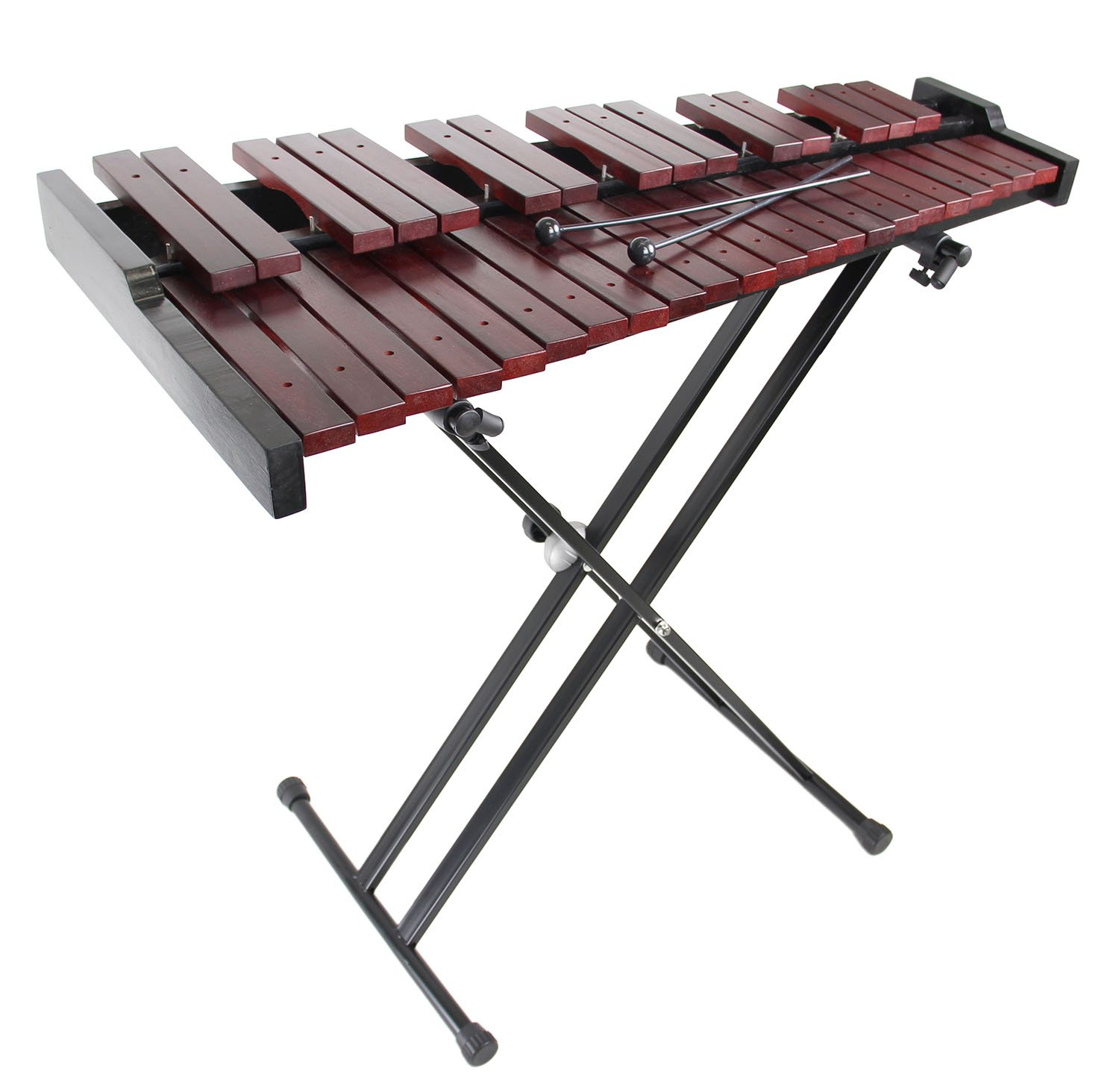 Gearlux 37-Key Wooden Xylophone with Mallets, Stand, and Gig Bag XYLO-SET-37