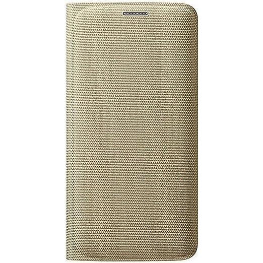 43 opinioni per Samsung Custodia Flip Wallet in Tessuto per Galaxy S6 edge, Oro [EU]