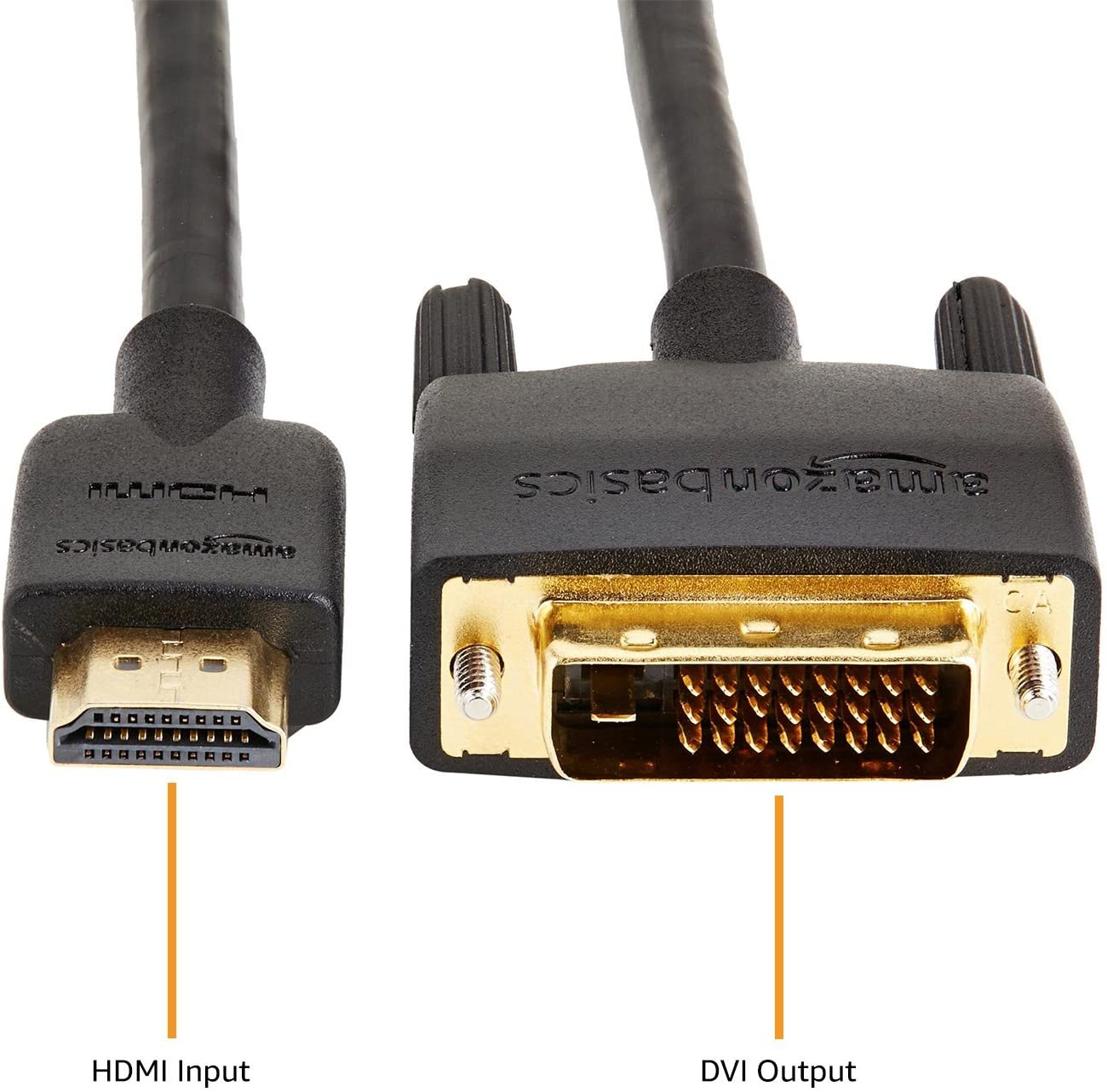 AmazonBasics HDMI DVI Adapter Cable Latest Standard Not for connecting SCART VGA ports