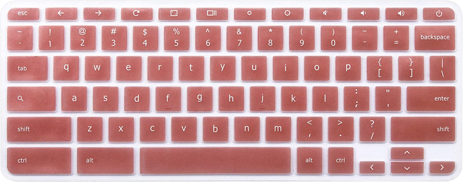 Keyboard Skin Compatible Acer Chromebook 14 CB3-431 CP5-471 CB514, Acer Spin 13 Chromebook CP713 R 13 CB5-312T, Acer Chromebook 15 CB515, Acer Chromebook Spin 15 CP315 (Rose Gold)