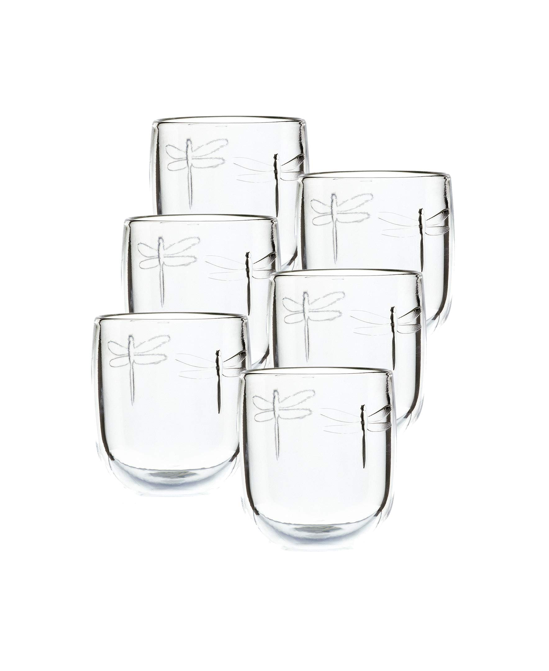 La Rochere Set Of 6,9.5-ounce Dragonfly  Tumblers