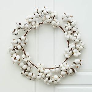 Lvydec Cotton Wreath Decor, 16