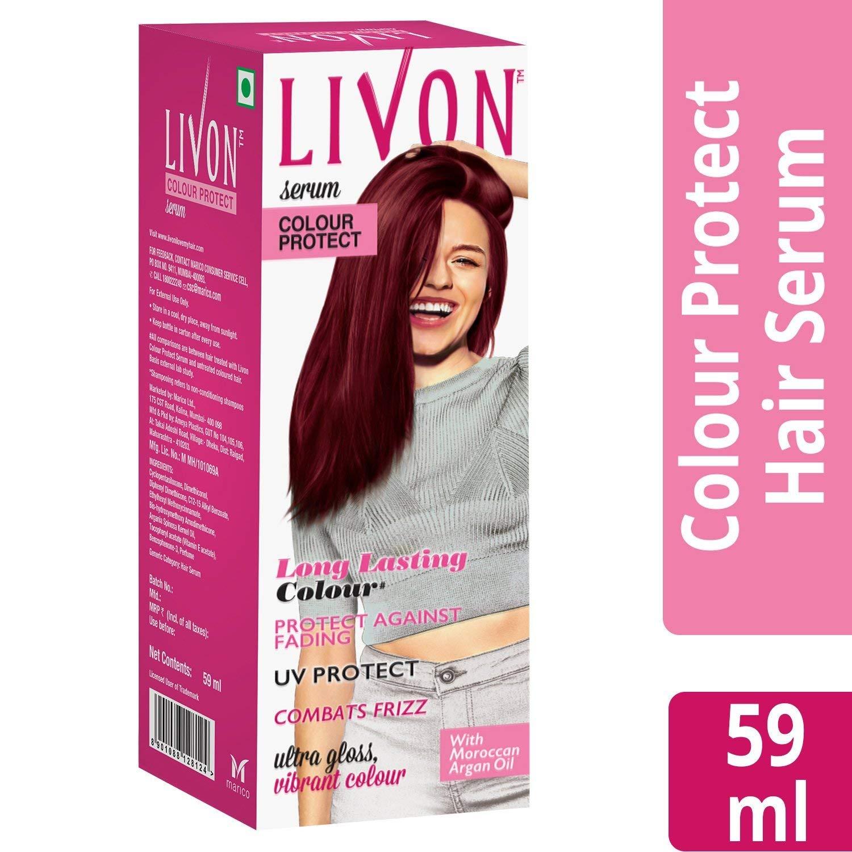 Glamorous Hub - Livon Colour Protect Hair Serum for Women, 59 ml by Glamorous Hub