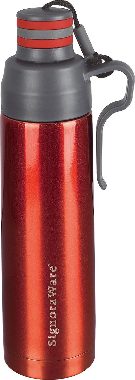 Signoraware Pebble Stainless Steel Vacuum Flask Bottle, 500ml, Red