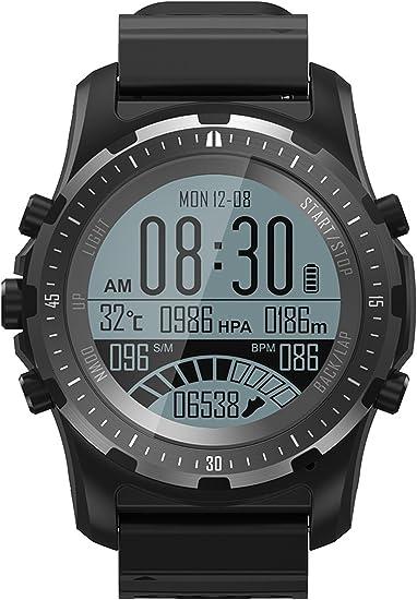 cnBro Smart Watch GPS Compass Fitness Tracker Heart Rate Monitor IP67 Bluetooth Sport Activity Wristwatch Barometer Altimeter