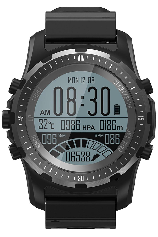スマート腕時計GPSコンパスFitness Trackerハートレートモニターip67 Bluetoothスポーツアクティビティ腕時計気圧計高度計 B07F342NDW