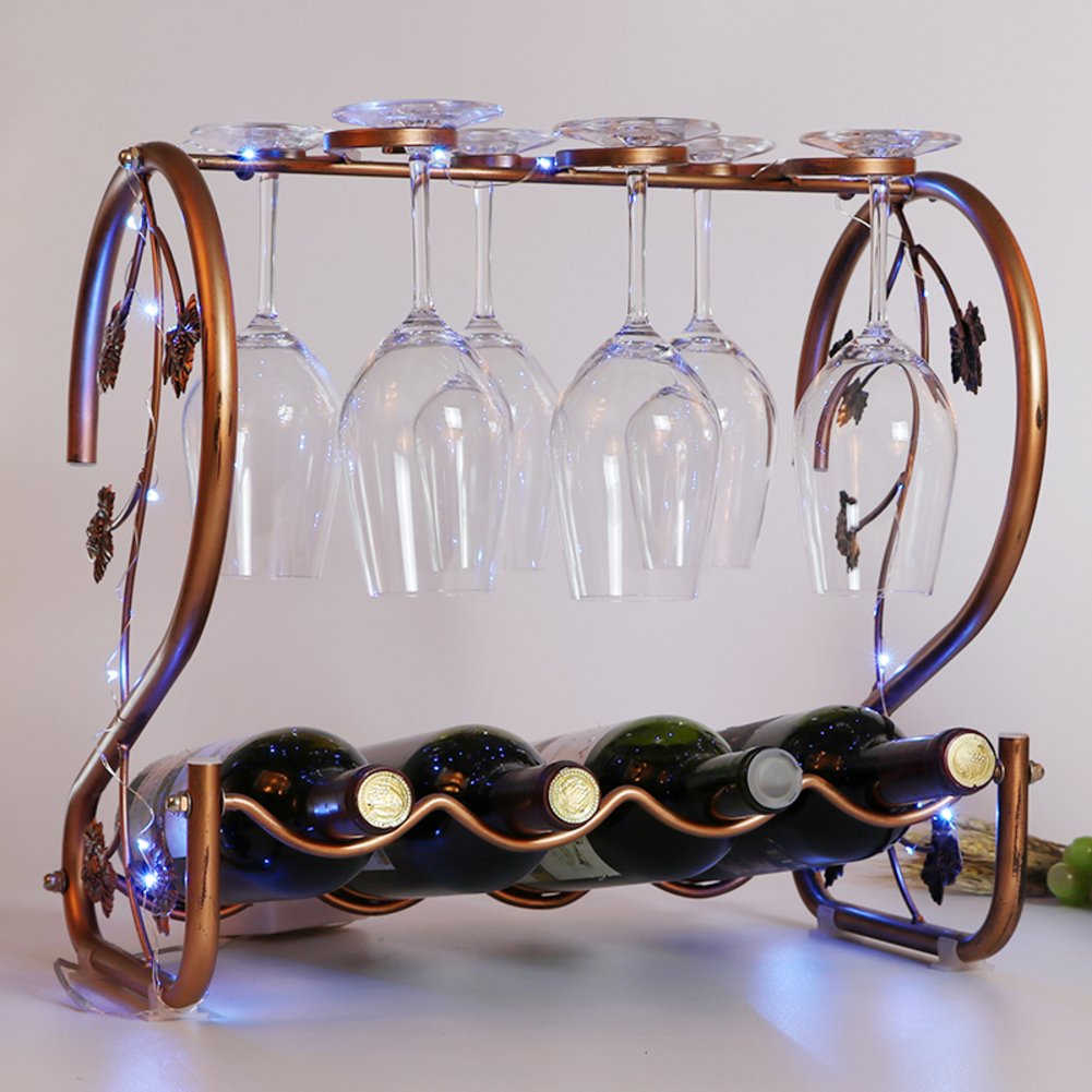 European wine glass holder,Wine cup rack stemware glass storage organizer freestanding wine cup display stand-B L15.7W9H15inch(402338.5cm) by bestwineholder