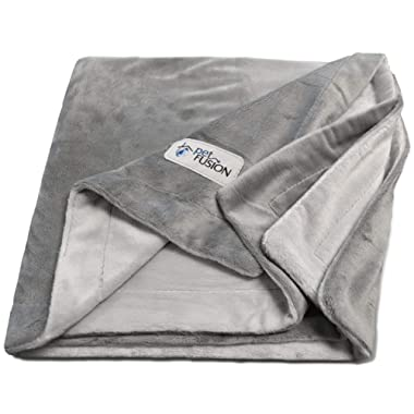 PetFusion Premium Pet Blanket, Multiple Sizes for Dogs & Cats. [Reversible Micro Plush]. 100% Soft Polyester