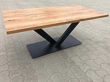 Holzwerk Esstisch Wildeiche Massiv Platte 4cm Stark 200x100