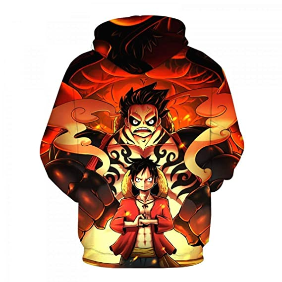 Amazon.com: FLAMINGO_STORE One Piece Monkey D. Luffy Hoodies Pullovers Hat Sweatshirts Boys Jacket Clothes: Clothing