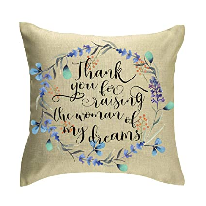 Amazon.com: Jimrou Throw Pillow Cover 18x18inches Thank You ...