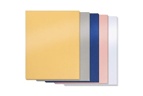Amazon.com: Papel metálico plateado – 100 unidades de papel ...