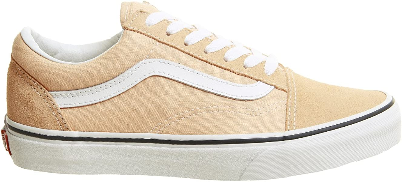 7925d7c0d9172a Vans Unisex Color Theory Old Skool Suede Canvas Lace-Up Trainer Bleached  Apricot -
