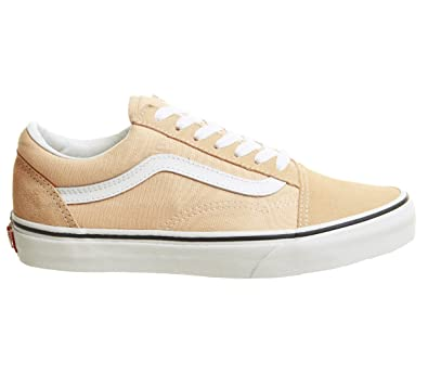 1d45433efbda6 Vans Unisex Color Theory Old Skool Suede/Canvas Lace-Up Trainer Bleached  Apricot -Apricot-5