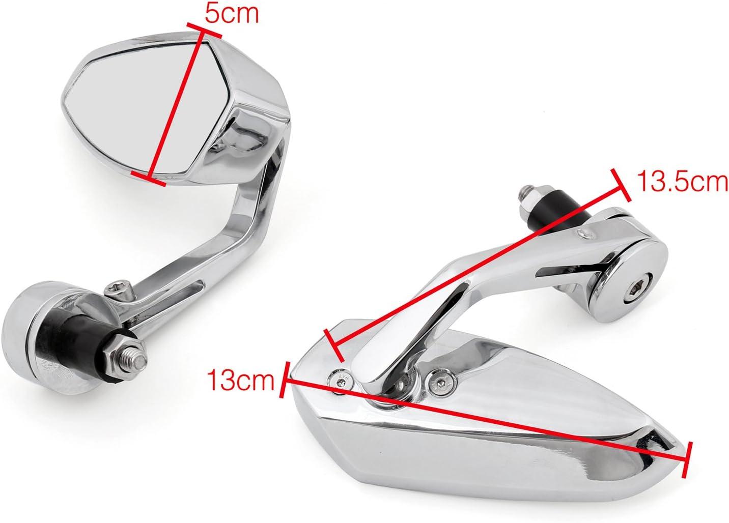 Areyourshop R/étroviseur universel pour guidon de moto 22 mm