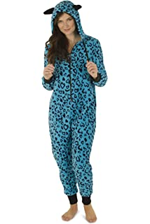 31518baf9eaf Totally Pink Women s Warm and Cozy Plush Adult Onesies for Women One-Piece  Novelty Pajamas