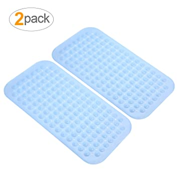 AuAg 2 Packs Non Slip Bath Tub Shower Mats Set,Anti Slip Bathroom Rugs,