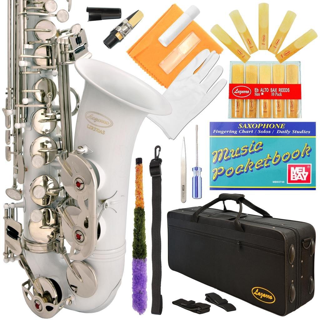 Saxofón alto Blanco Lazarro con funda y accesorios (xmp)  -