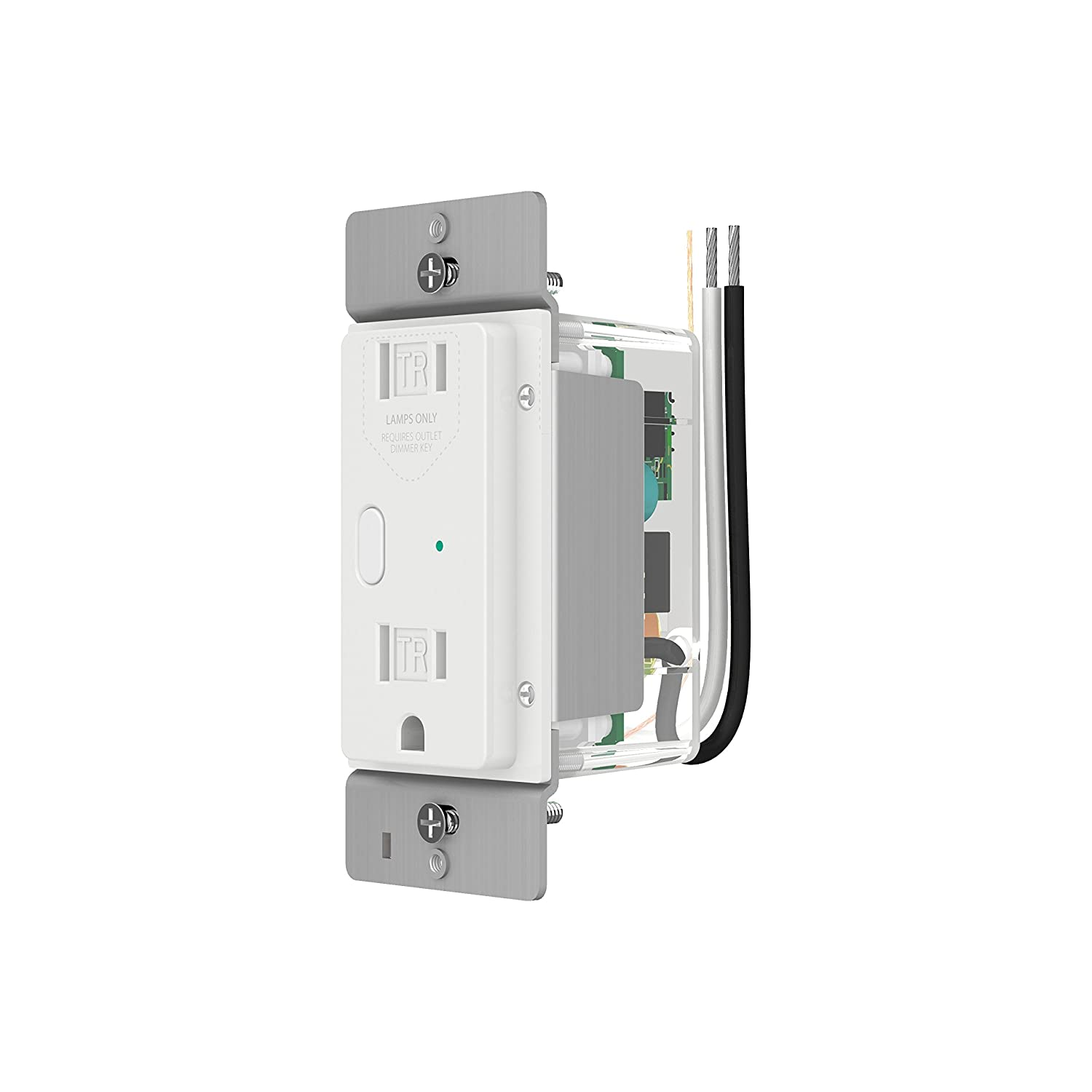 Insteon 2472dwh Outletlinc Dimmer Remote Control Outlet Dual Band Switchlinc On Off Switch Dualband White Tools Home Improvement