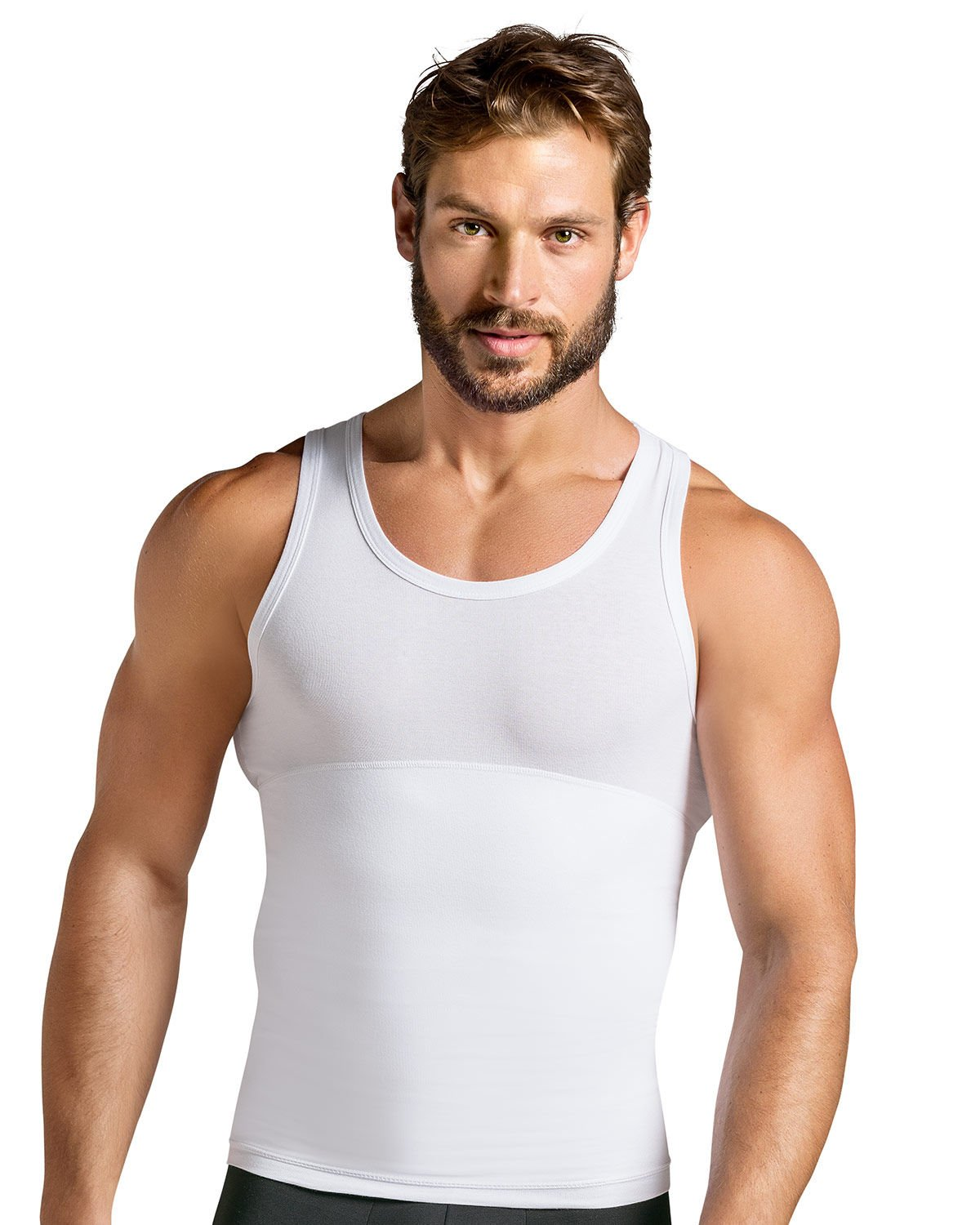 Leo Men's Slimming Abs Toning Firm Compression Tank Shaper by Leo