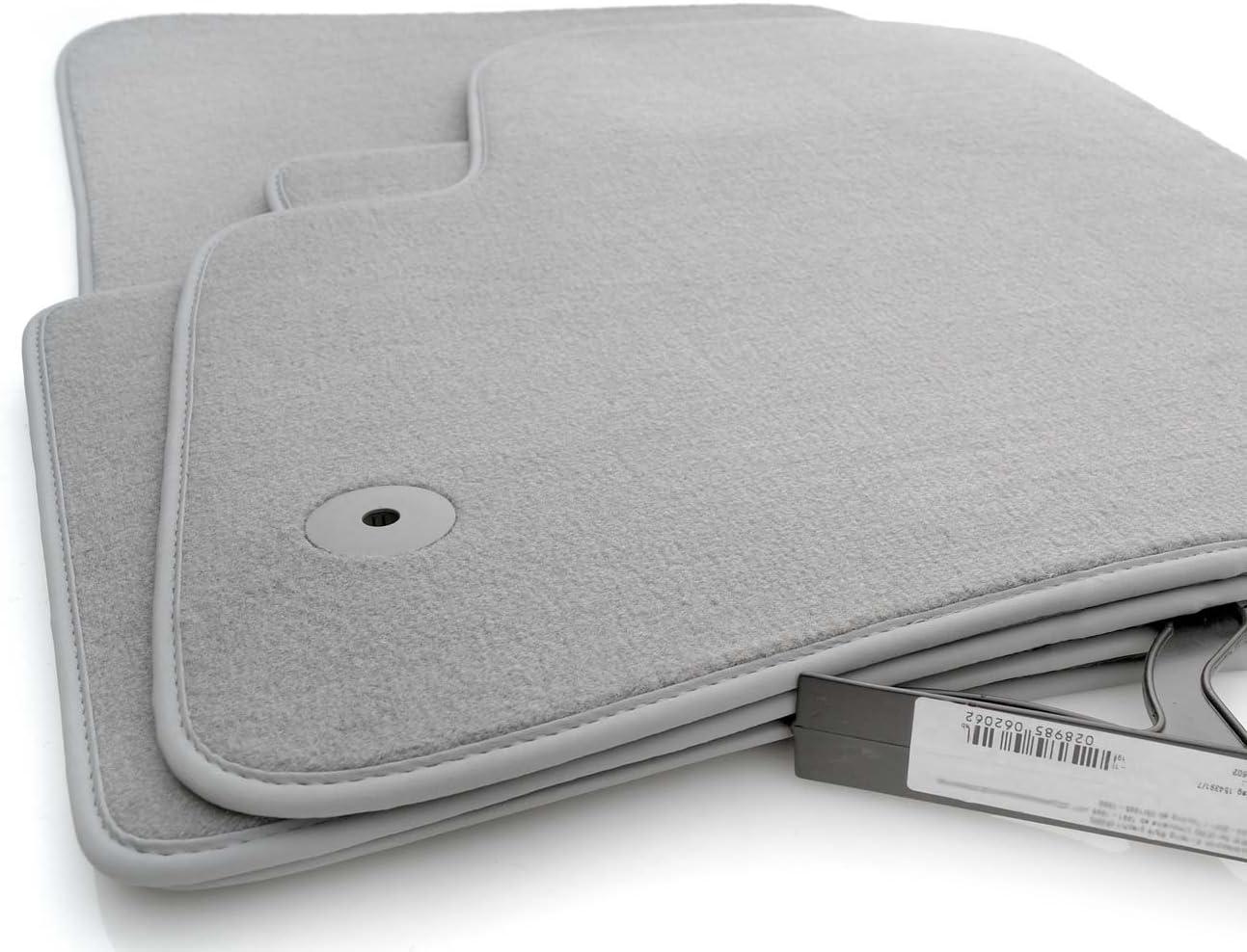 Tapis de sol pour porsche cayenne i original qualit/é tapis velours 4 pi/èces gris