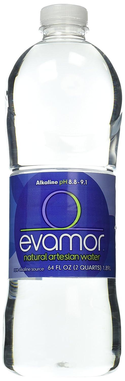 Evamor Natural Alkaline Artesian Water-64 Ounce Bottles (Pack of 4)-Alkaline Natural Artesian Water, Plastic Water Bottles, Recyclable