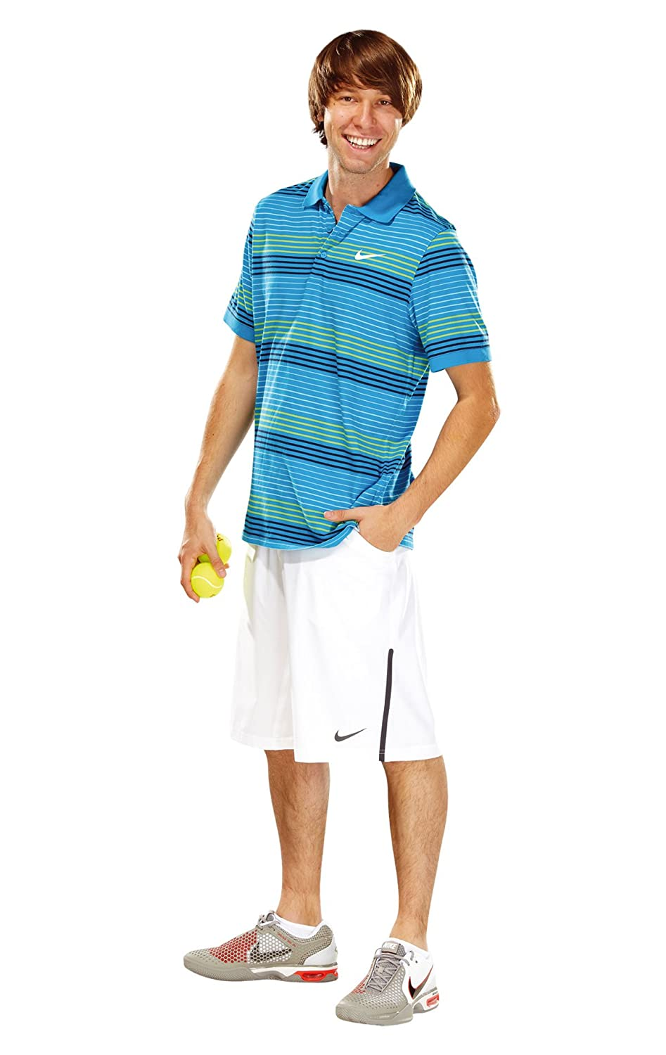 57685b47 Nike Advantage DFCTN Men's Tennis Polo Shirt Striped turquoise heritage  cyan/white Size:M: Amazon.co.uk: Sports & Outdoors