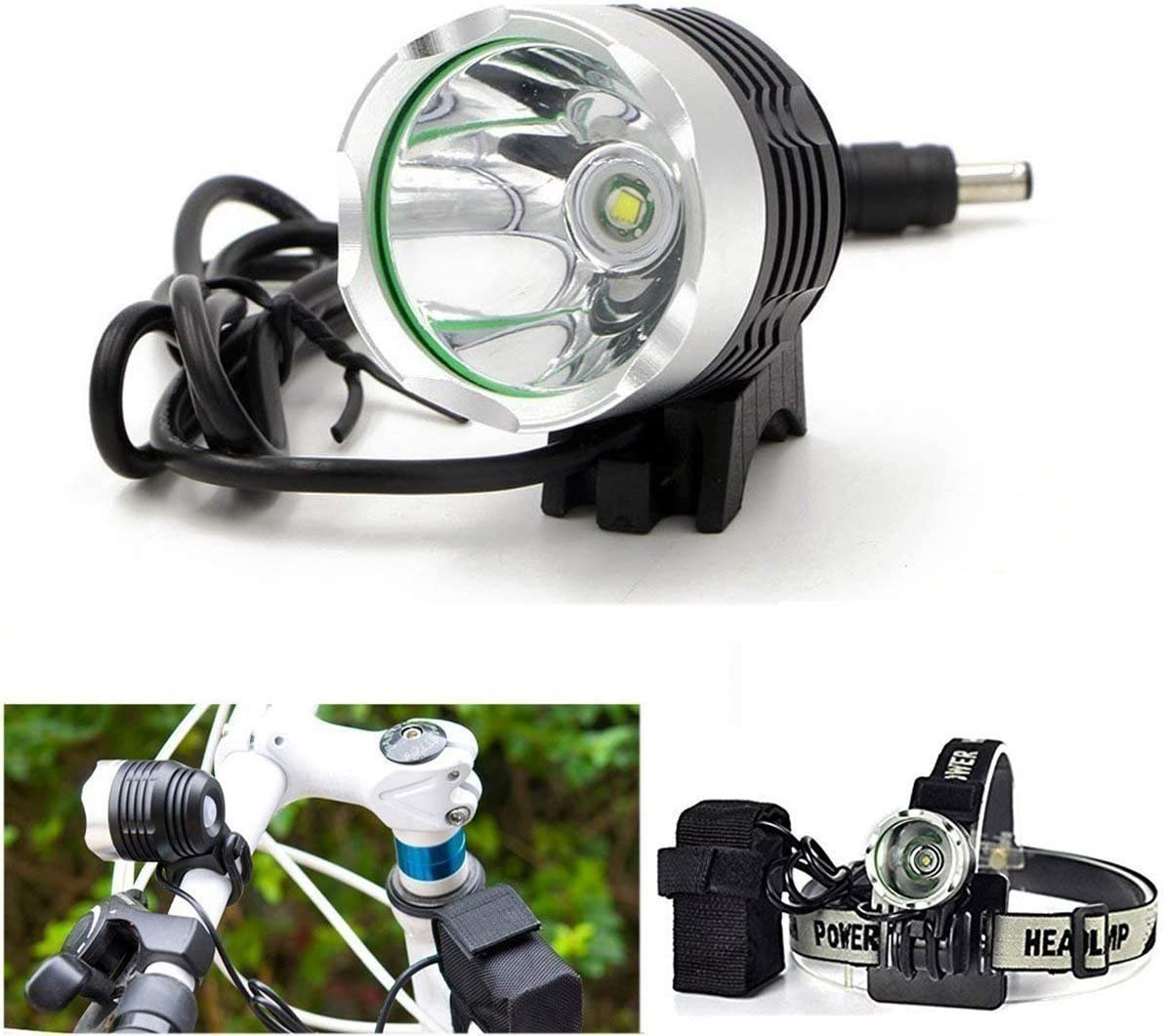 Charger For XML T6 LED Bike Headlamp Front Light 6400mAh Spare USB Battery Pack