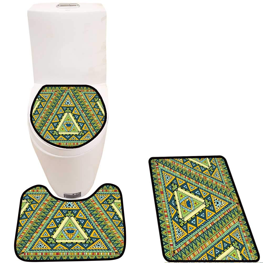 Amazon.com: Soft Toilet Rug 3 Pieces Set Seamless Pattern ...
