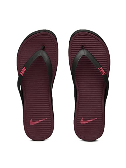 80782f507851 Nike Men Black   Burgundy Matira Flip-Flops (10M)  Buy Online at Low ...