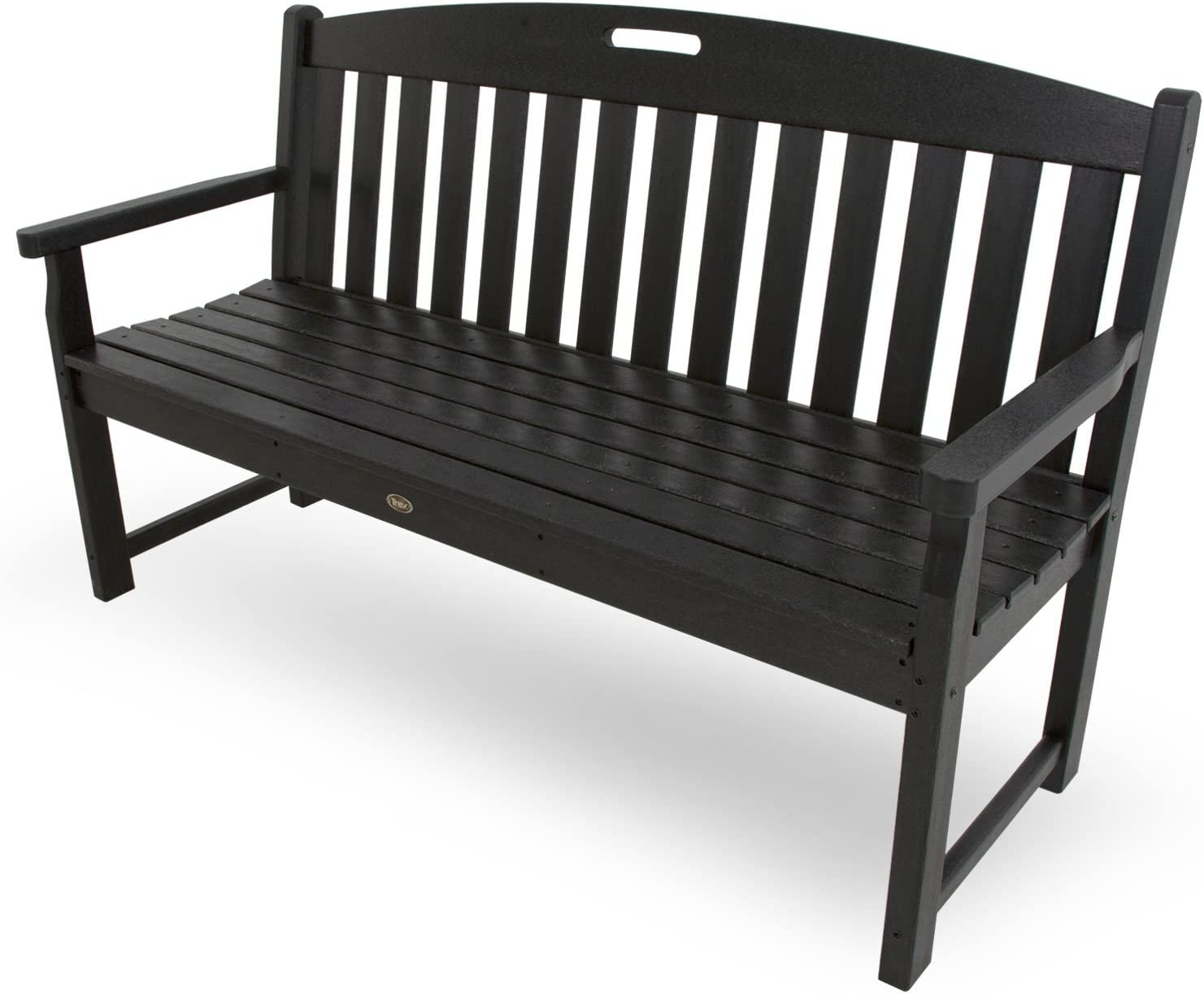 Trex Outdoor Furniture TXB60CB 60-Inch Yacht Club Bench, Charcoal Black