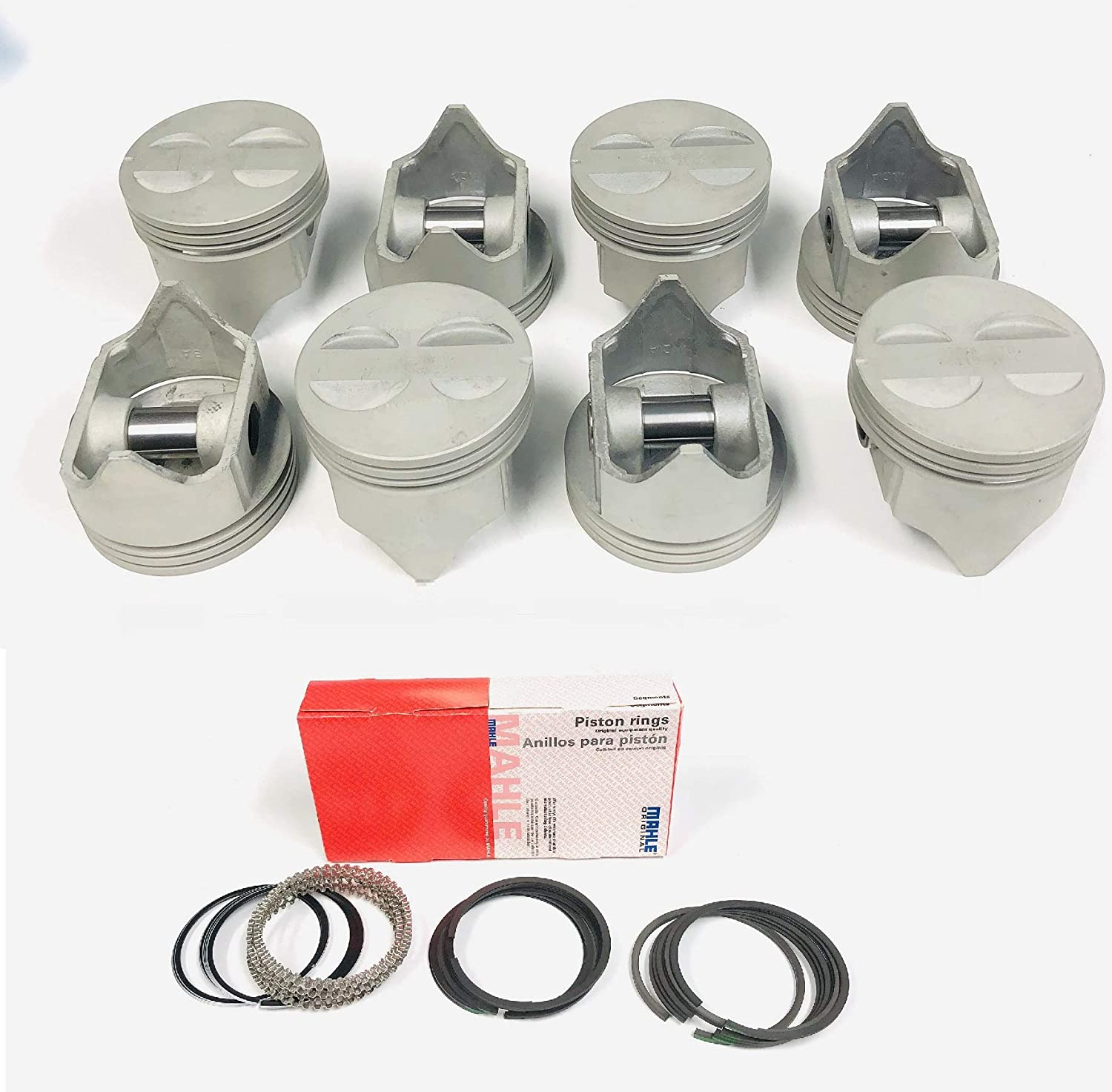 4.060 Bore Sealed Power Cast Flat Top 4VR Pistons /& Rings Kit compatible with Ford 289 302 5.0 5.0L 1968-86.