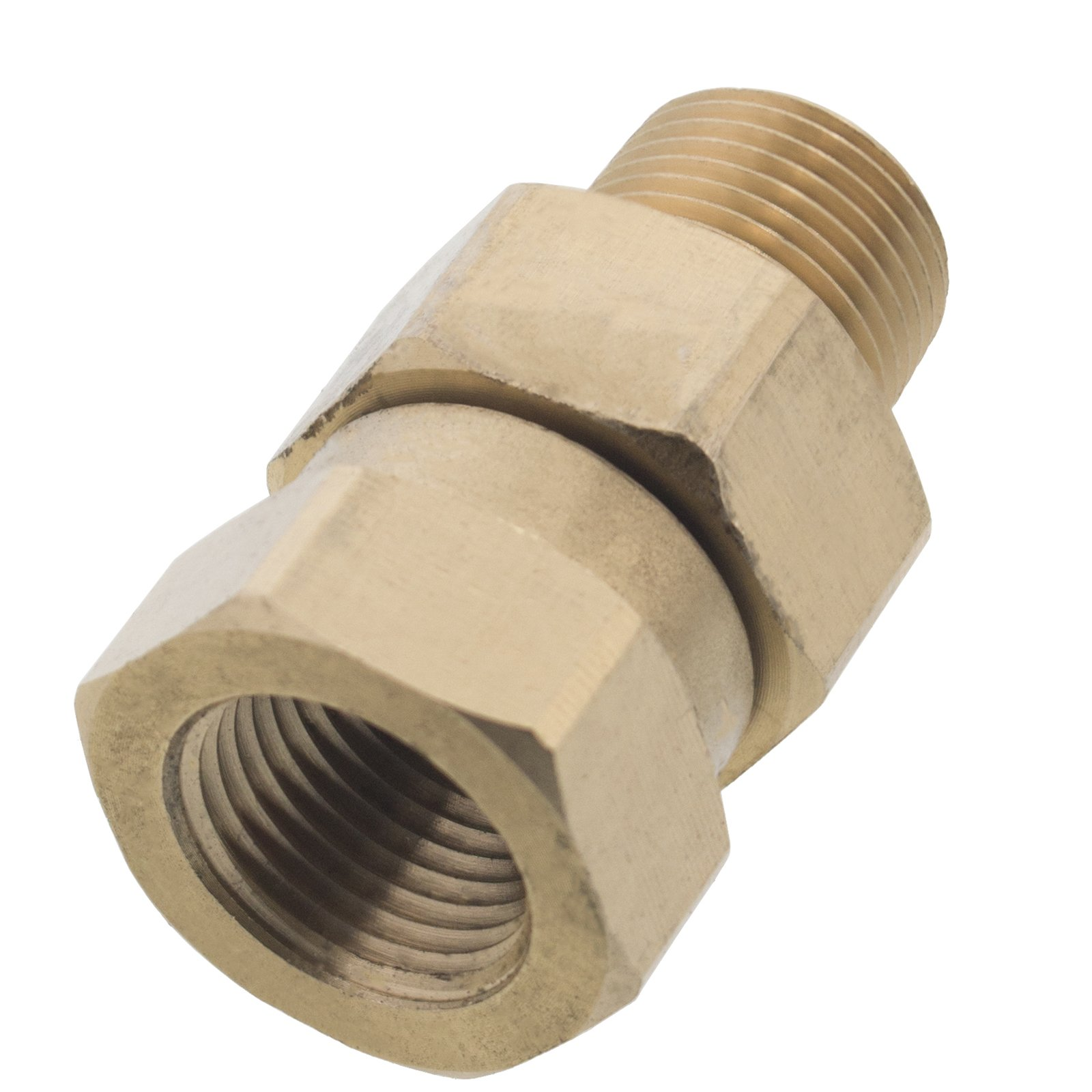 Erie Tools Pressure Washer 3/8in. Male to Female NPT Brass Swivel Coupler 4000 PSI