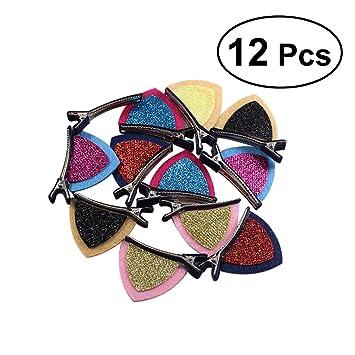 TOYMYTOY 12pcs horquillas para el cabello del oído del gato pinzas de los clips de los bebés accesorios para el cabello de los niños