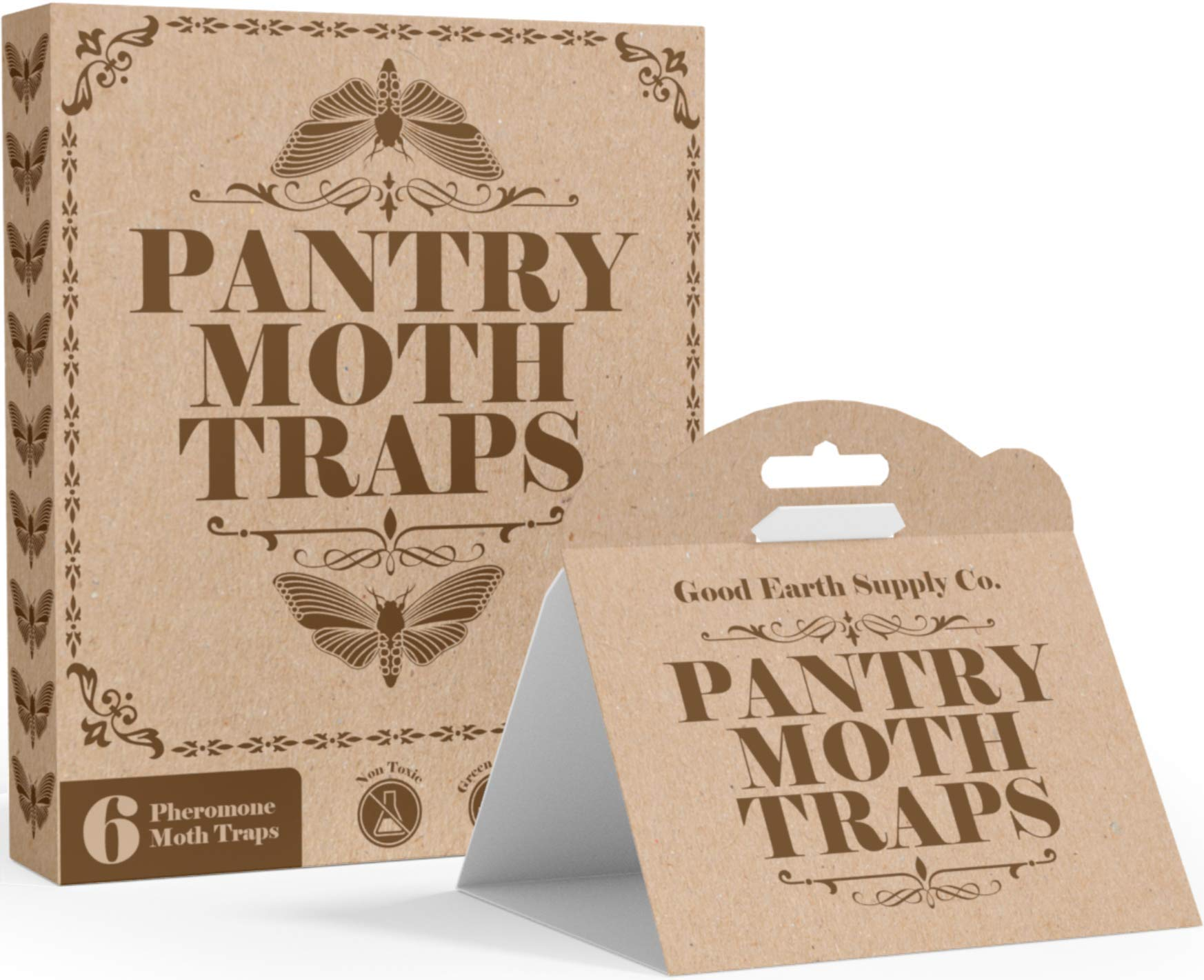 Odor-Free /& Natural RRAS Powerful Moth Traps Protects 3 Closets for 1 Year 3-Pack with 4 Refills//Pack