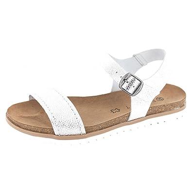 Esprit Sandale Damen Leder, silber