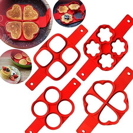 Molde para cocinar panqueques con tapa giratoria, Redondo y forma ...