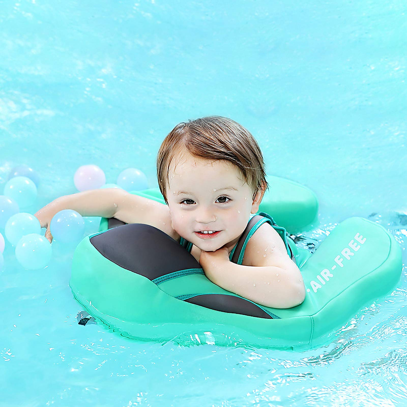 FindUWill Solid Swimming Float No Need to Inflatable Swimming Ring Safety PVC Children Swim Training (L, Blue) by FindUWill