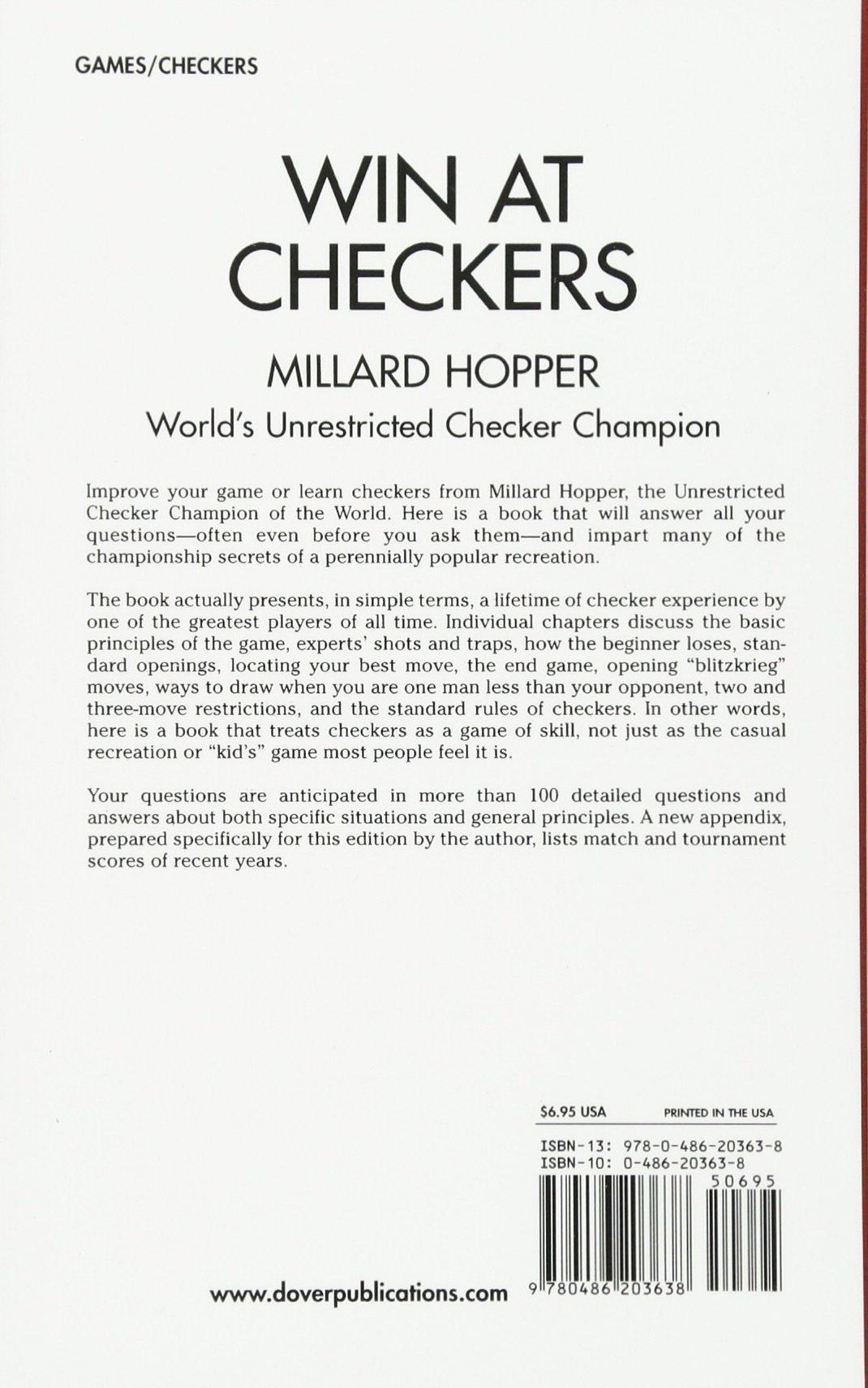Win At Checkers Hopper Millard 9780486203638 Amazon Com Books,Moon Flowers Tattoo