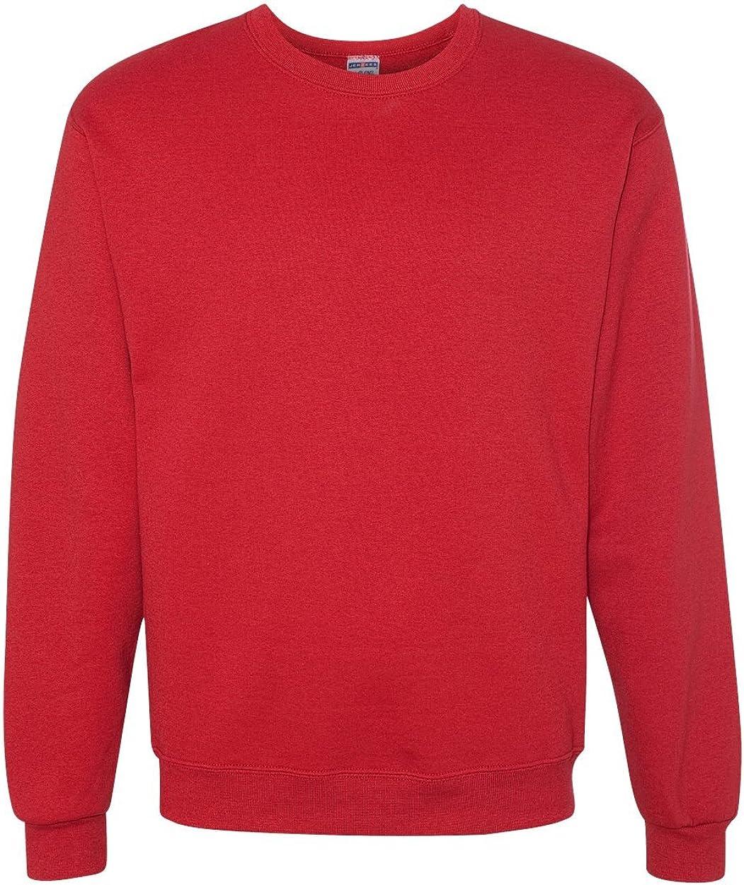 Jerzees Mens Blue Red NuBlend Crewneck Sweatshirt 3X 2X XL Pullover Sweater