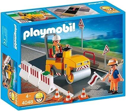 Amazon.com: Playmobil Road rodillo con asfalto Set de ...