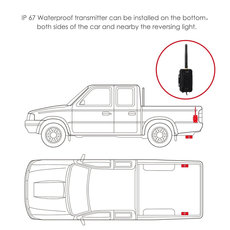 AUTO-VOX M1W Wireless Backup Camera Kit,IP 68: Amazon.co.uk ...